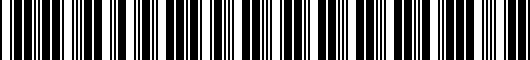 Barcode for PT2080700023