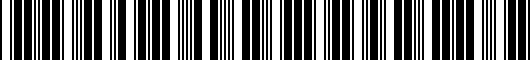 Barcode for PT9360711003