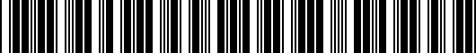 Barcode for PT9384213028