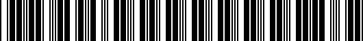 Barcode for PTR040000003