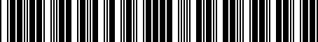 Barcode for PTR2734070