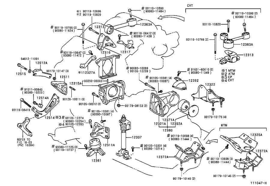 transverse engine diagram