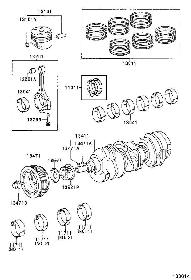 1998 toyota sienna engine connecting rod bolt