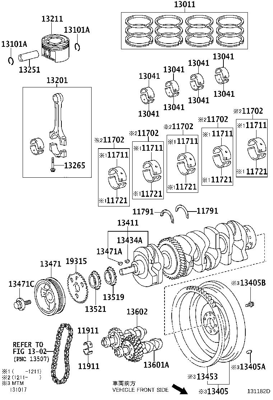 2009 toyota camry bearing  crankshaft  mark 3  manual  repair