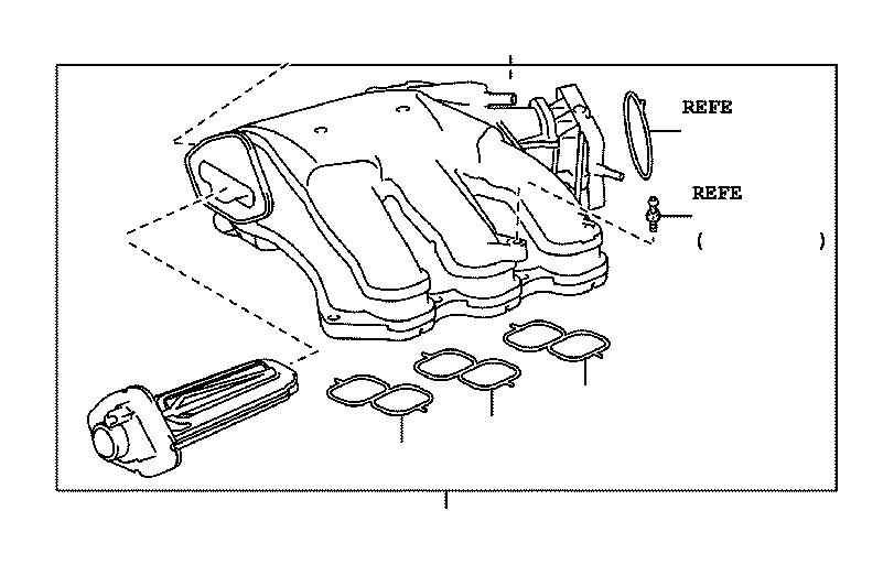 2008 Toyota Sienna Gasket  Air Surge Tank To Intake